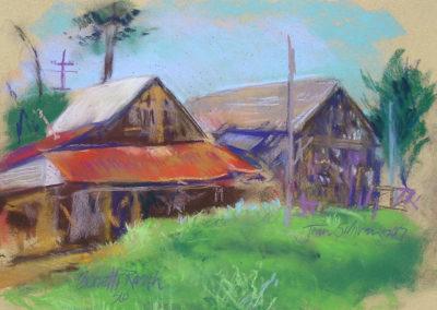 Granery barn pastel